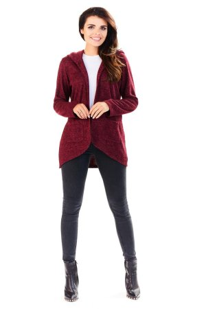 Sweter z Kapturem Bordo AW196
