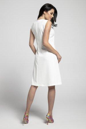 861f6eed21 ... Prosta Sukienka z Wyciętym Elementem Ecru NA553