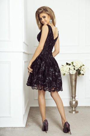 070c4ab2fa ... Rozkloszowana Sukienka z Gipiury Czarna II Mia