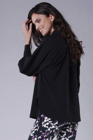 60dff835edcd7c Elegancka Koszula z Szerokimi Rękawami Czarna NA919 Elegancka Koszula z  Szerokimi Rękawami Czarna NA919