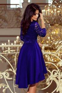da74f20e14 Asymetryczna Sukienka z Koronką Chabrowa NU210-4 ...