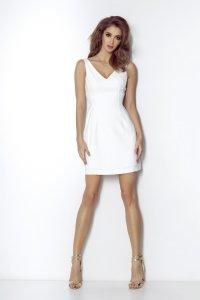3796181ff3 Elegancka Sukienka z Odkrytymi Plecami Śmietankowa April ...