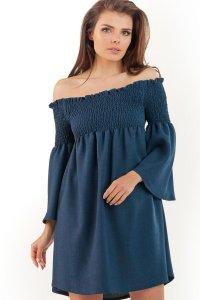 d52c8f6088 Zachwycająca Sukienka Hiszpanka Granatowa AW228 ...
