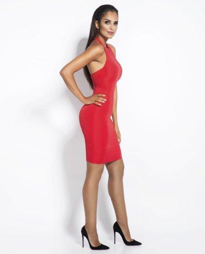 03b5dc9068 Dopasowana Sukienka Sitru Czerwona BESIMA.pl