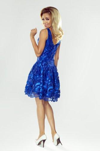 c3a8a44c07 Rozkloszowana Sukienka z Gipiury Chabrowa Mia. Producent  Imesia