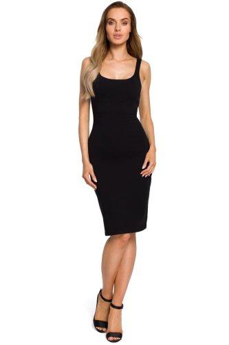 d1e96e0e Kobieca Bawełniana Sukienka Midi Czarna MO414