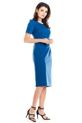 b45d3d4971 Elegancka Sukienka z Łezką Niebieska AW252 BESIMA.pl
