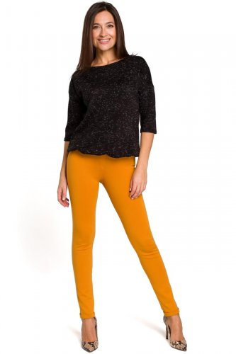221685d4 Spodnie Rurki Żółte ST155