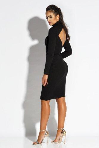 14918e7238 Dopasowana Dzianinowa Sukienka Carino Czarna BESIMA.pl