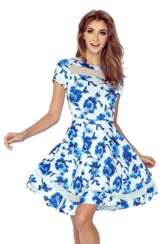 4ffe5b2af0 Elegancka Sukienka z Tiulem w Kwiaty MOR003-3 BESIMA.pl