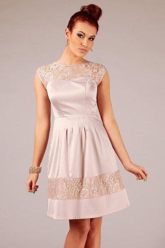 7b0171ae45 Zmysłowa Sukienka Beżowa Chiara BESIMA.pl