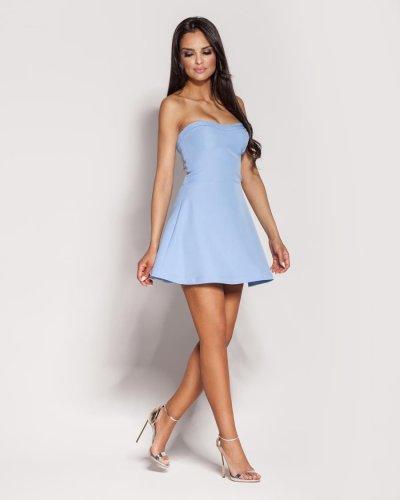 b91a0c462c Gorsetowa Bawełniana Mini Sukienka Niebieska Fabi BESIMA.pl