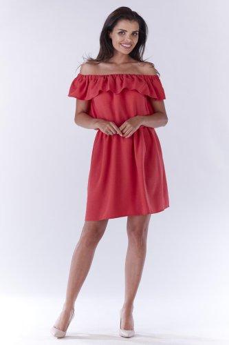 b2c29e056b Sukienka Hiszpanka Różowa Fuksja AW185 BESIMA.pl