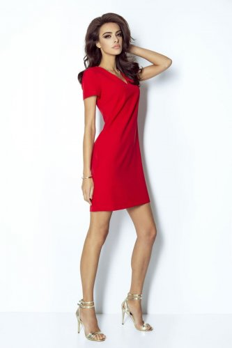 884cb00156 Elegancka Sukienka Czerwona 203 BESIMA.pl