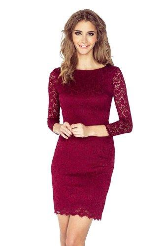 c9459a9a01f9ca 145-2, sukienka, koronka, bordowa, numoco, sklep, online