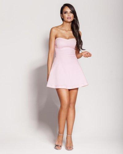62e04c71a Gorsetowa Bawełniana Mini Sukienka Różowa Fabi BESIMA.pl