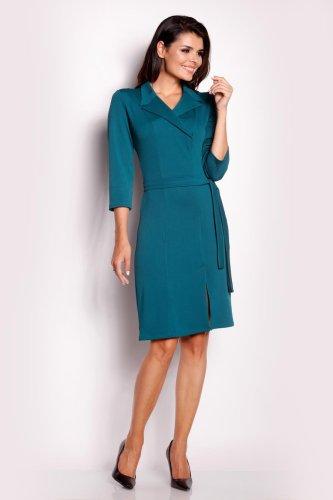 b08742c04f Sukienka z Kołnierzykiem Zielona AW151. sukienki ...