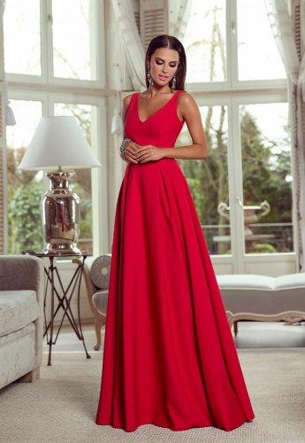 8649872883 Sukienka Długa Jessica Czerwona BESIMA.pl