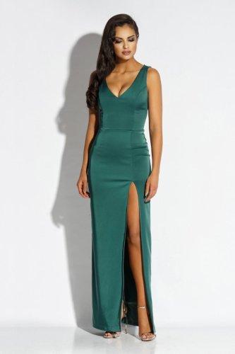 6756a78ac7 Stylowa Długa Sukienka Zielona Bella BESIMA.pl