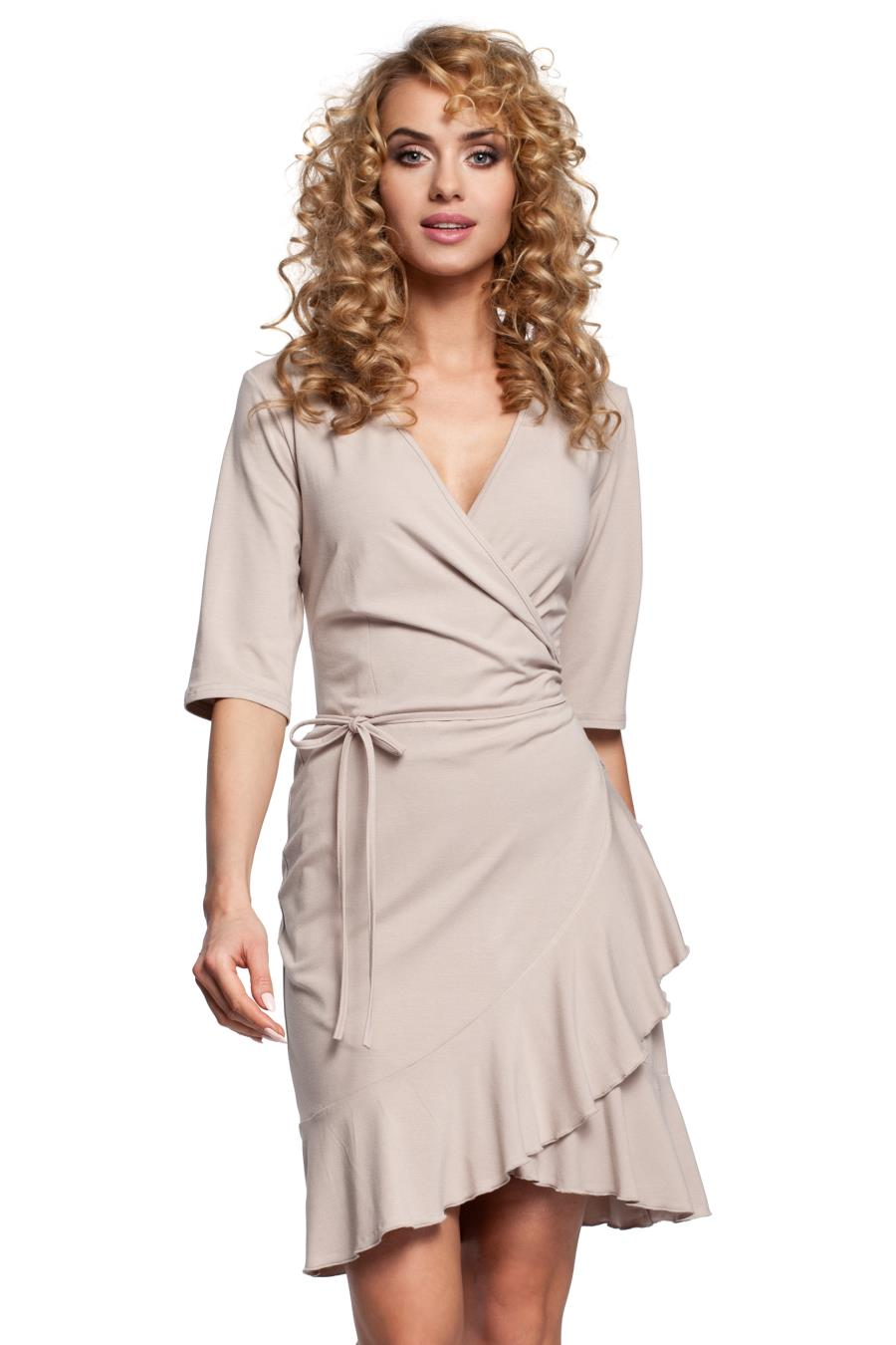 52cf9673b024c0 sukienki, dzienne, beżowe, letnie, zakładką, sklep, online, besima ...