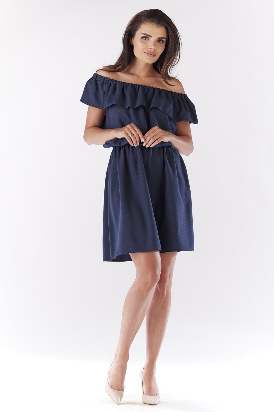 11b0ce61c7 Sukienka Hiszpanka Granatowym AW185 BESIMA.pl