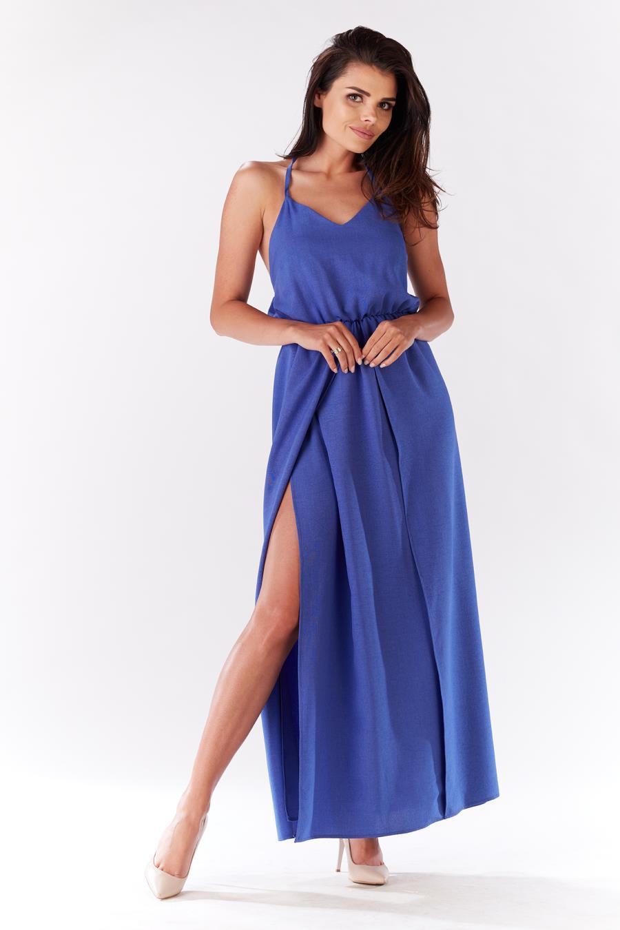 ca234eb45b0846 sukienki, letnie, długie, niebieskie, modne, polskie, sklep, online ...