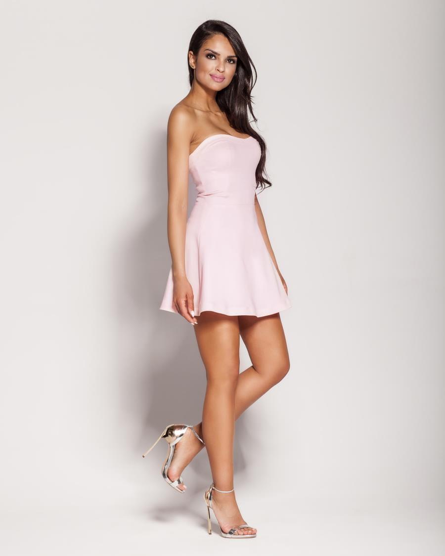 f029f4f59f Gorsetowa Bawełniana Mini Sukienka Różowa Fabi BESIMA.pl