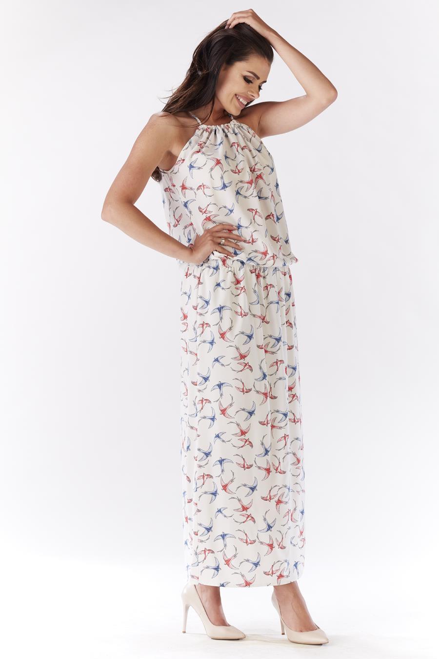 9882df142420b9 ... letnie, długie, sukienki, maxi, ecru, dzienne, sklep, online ...