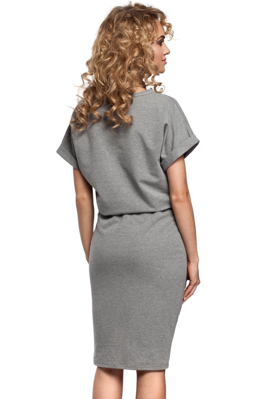 573804162f Bawełniana Sukienka Szara MO284 BESIMA.pl
