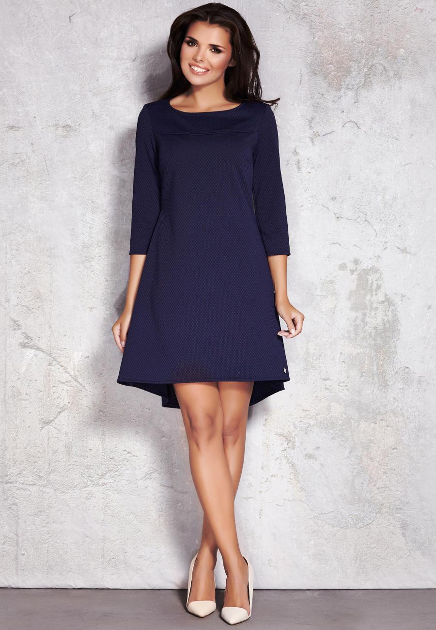 34b5c46be6 Elegancka sukienka Granatowa M024 BESIMA.pl