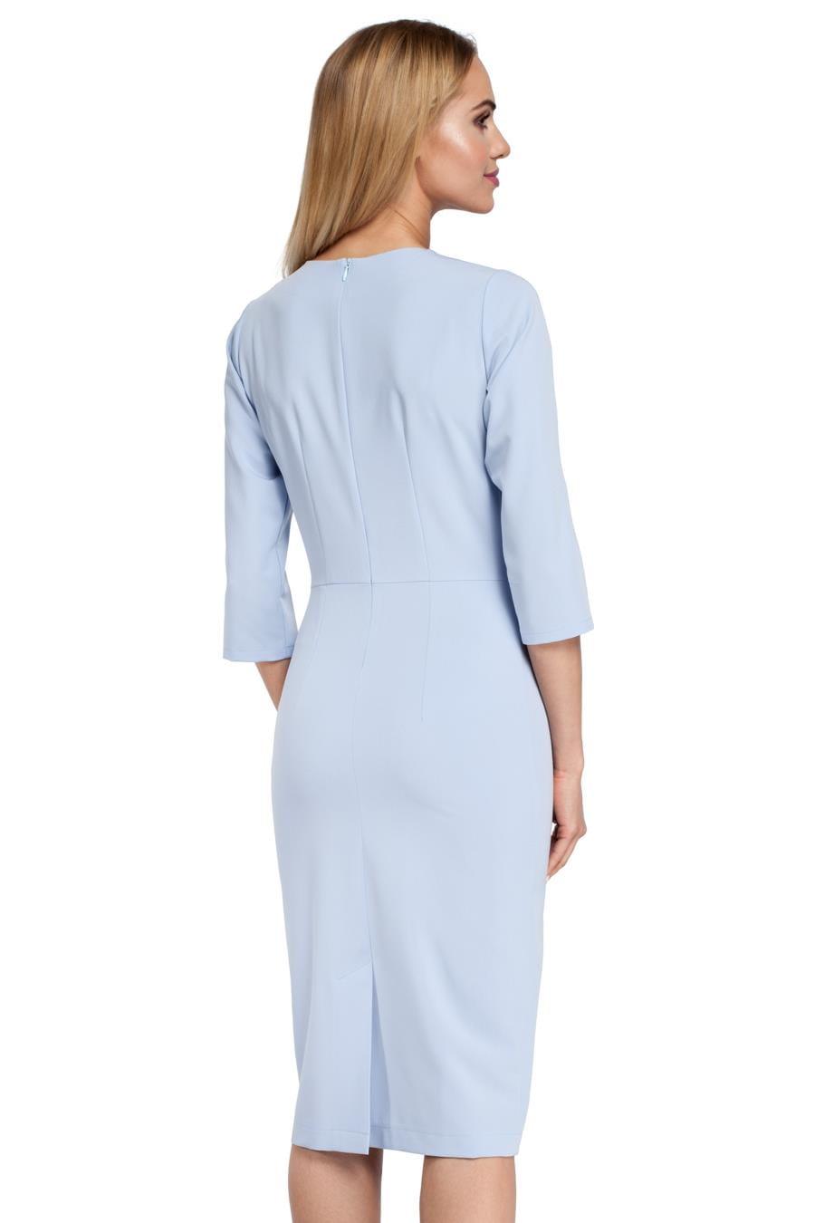 af3f52e2 Klasyczna Ołówkowa Sukienka Błękitna MO297