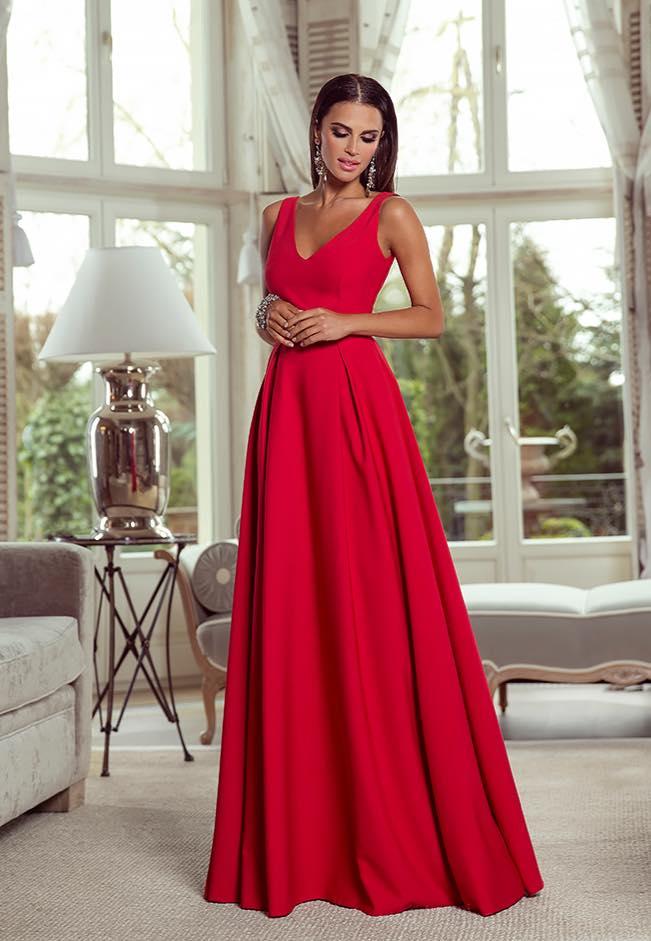 c22a8edc84 Sukienka Długa Jessica Czerwona BESIMA.pl