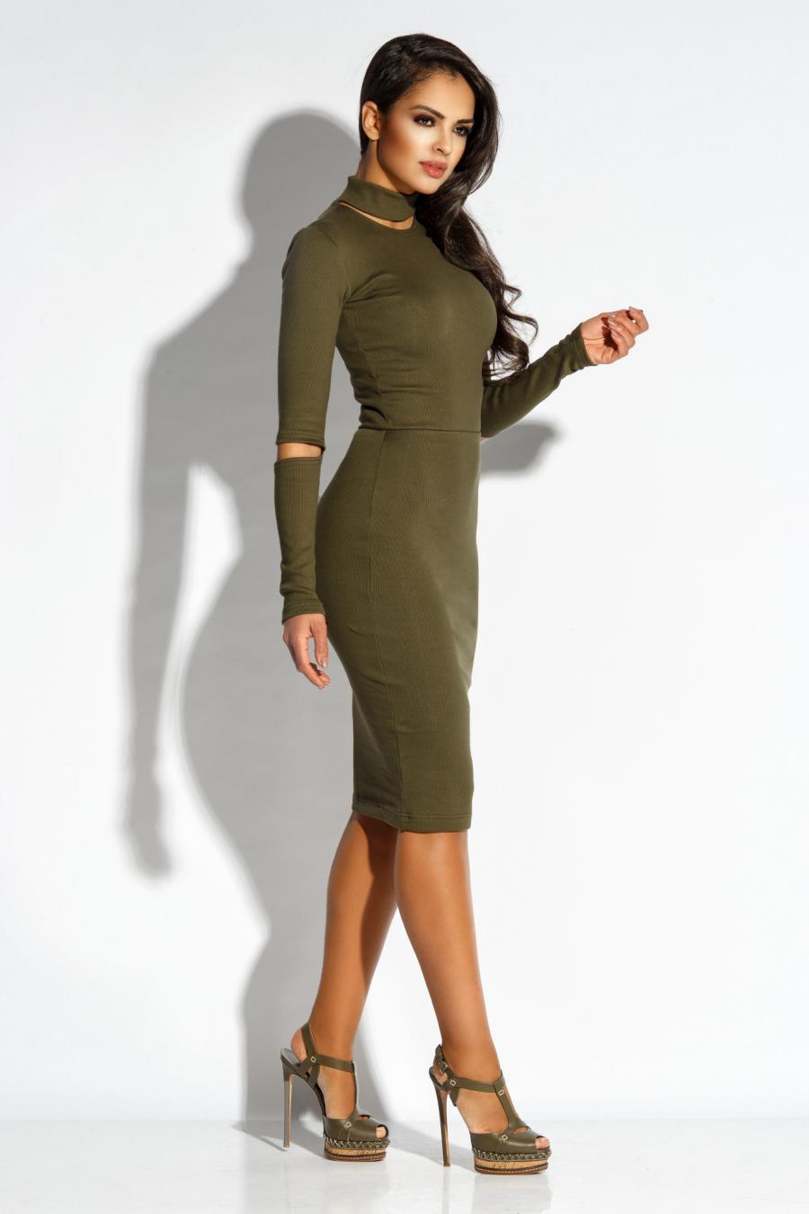 83d2a865 Dzianinowa Elegancka Sukienka Olwikowa Rico