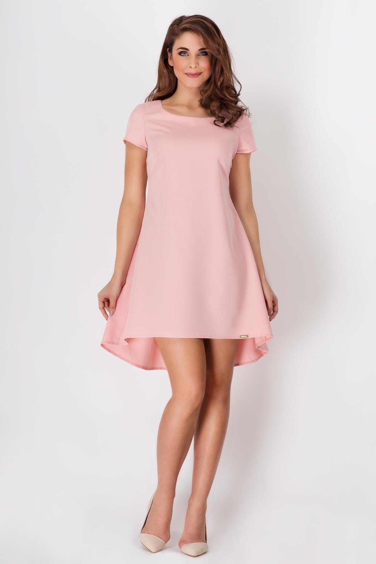 Aktualne Sukienka Rozkloszowana Róż Pudrowy A88 BESIMA.pl QB66